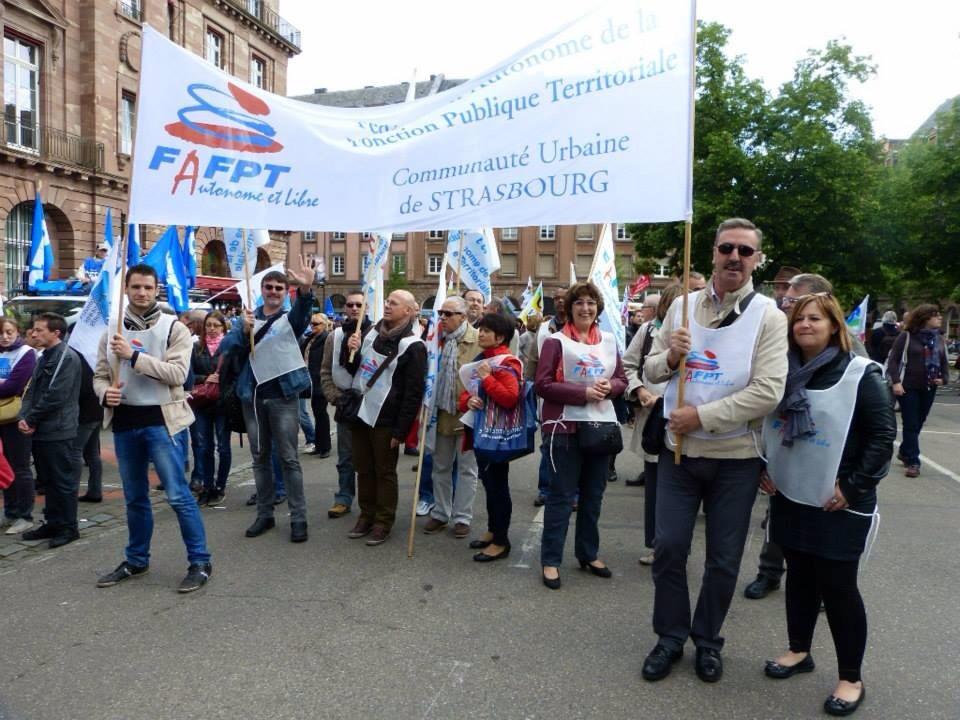 Manifestation du 15 Mai 2014 Contre le gel du point d'indice des fonctionnaires